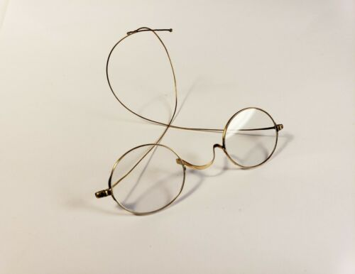 14K antique eyeglasses. Marked and tested. Solid gold spectacles. Early 1900