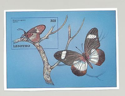 Lesotho 1997 Butterflies 1v S/S Imperf Proof