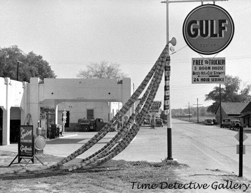 Gulf Pride Gas Station, Enfield, North Carolina - 1938 - Historic Photo Print