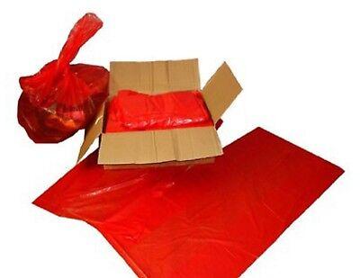 200 x Red Sacks Rubbish Bin Liner Bags  18
