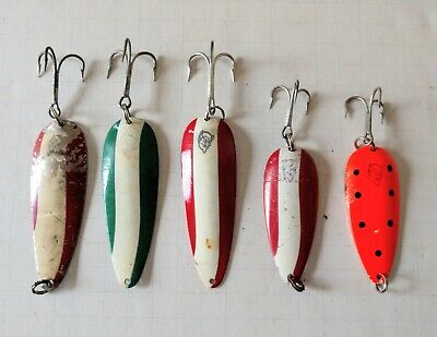 Fishing teasers trolling attractors ford fenders  trout redfin as pic x 5 packs