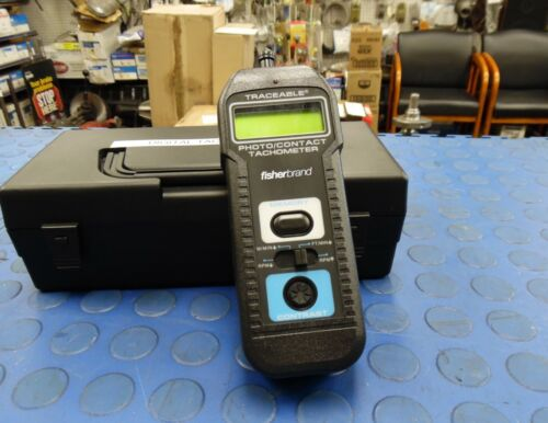 Fisher - Fisher Photo Contact Digital Tachometer - with Case/Accessories