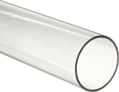 Clear Acrylic Plastic Plexiglass Pipe Tube 3 89 Mm Fits 3 Pvc Fittings By Ft