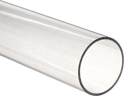 Clear Acrylic Plastic Plexiglass Pipe Tube 3 89 Mm Fits 3 Pvc Fittings 1 Foot