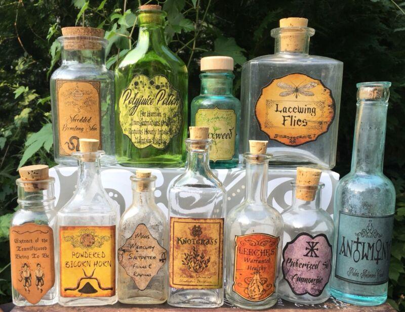 "3"" Polyjuice Potion &Ingredient Labels Harry Potter Party Prop DIY Decoration"