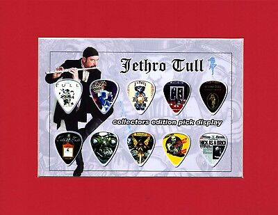Jethro Tull Matted Picture Guitar Pick Set Thick As A Brick Ian Anderson Aqualun