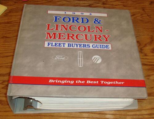 1994 Ford Lincoln Mercury Fleet Buyers Guide Dealer Album 94 Mustang Bronco