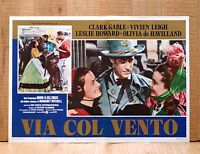 Via Col Vento Poster Fotobusta Affiche Gable Vivien Leigh Gone With The Wind E6 -  - ebay.it