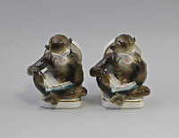 Porcelana Figuras Gräfenthal Libro Apoyo Par Monos Con Libro 9943050 -  - ebay.es