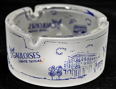 """Gauloises Wind-Glas-Aschenbecher, """"weiß satiniert"""", Sehenswürdigkeiten Paris"""