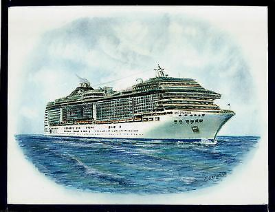 Original Art Work     Msc  Splendida    Msc Cruises    Cruise Ship