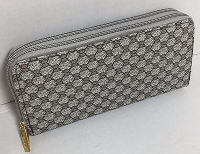 Dual Zip Wallet Organizer - NEW LADIES DOUBLE ZIP AROUND WALLET ORGANIZER PURSE CARD HOLDER HOLIDAYS GIFT