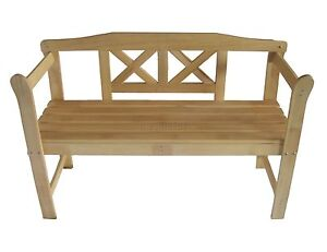 Outdoor Home Wooden 2 Seat Seater Garden Bench Furniture Patio Park Hardwood 031