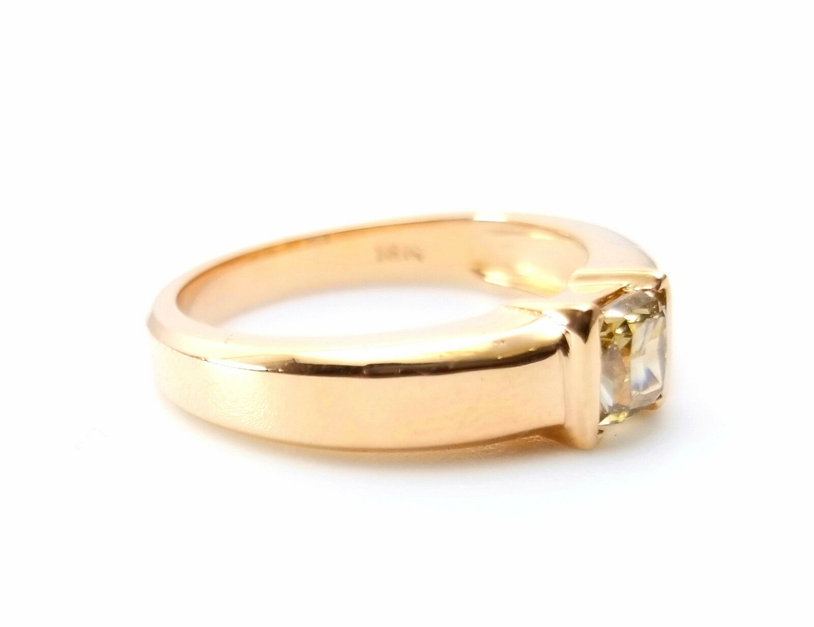 Whiskey Diamond - VS1 Men's Unisex Ring 1.00ct Natural Fancy Brown GIA 18K Gold 2