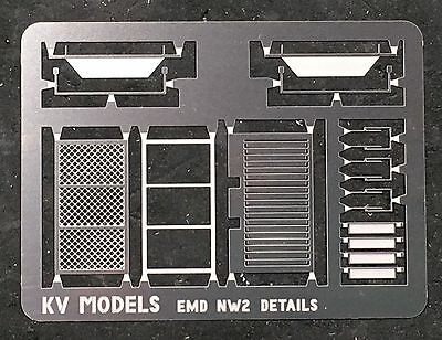 ETCHED DETAIL SET FOR KATO EMD NW-2 SWITCHER HO SCALE KV MODELS