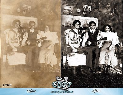 Professional Old Photo Restoration, Photo Retouching!