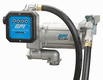 Gpi 30gpm Ac Fuel Transfer Pump 115v Hose Nozzle Mechanical Meter M-3130-ml