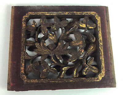 antique VICTORIAN WOODEN VENT COVER hand carved