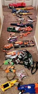 Huge NERF Dart Gun & Accessories Lot of 30 guns plus accessories