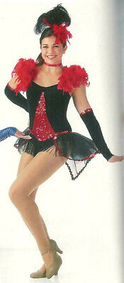 Adult Large CASINO ROYALE Showgirl Dance Costume Dress Can Can
