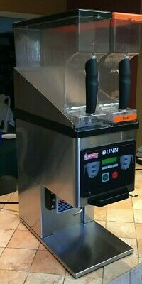 Bunn Brewwise Model Mhg Stainless Steel 2 Hopper Commercial Coffee Grinder