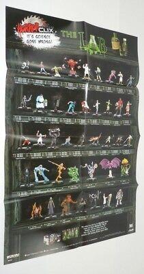 Horrorclix The Lab Checklist Poster Wizkids 20 x 29.75 Inch AVP Predator MP110