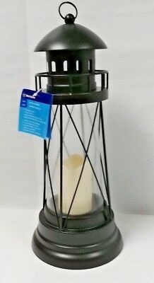 Large Metal Lighthouse Lantern, Black - Large Black Lanterns