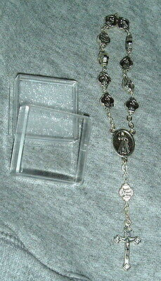 Metal Our Lady Of Grace Rosary One Decade 6 Inches Catholic Mary Jesus