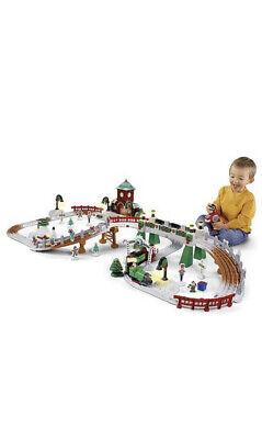 Fisher Price Geotrax Christmas Toytown Railway Railroad Train Set V2027