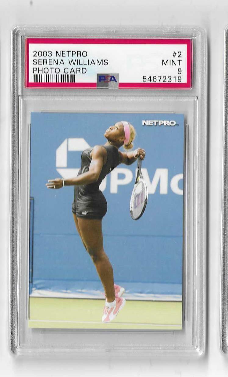 2003 NETPRO SERENA WILLIAMS 2 PSA 9 MINT PHOTO CARD LOW POP 19  - $100.00