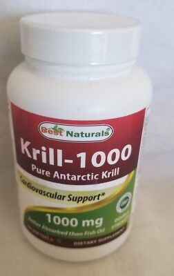 Krill Oil, Best Naturals, 60 softgels 1000 (Best Krill Oil 1000mg)