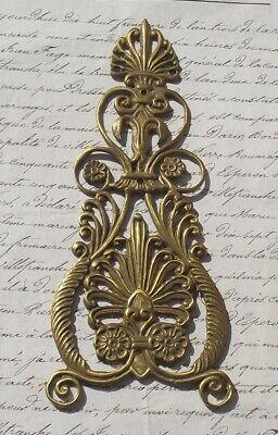 Antique French Bronze Arabesque Plume Decorative plaques Accent embellishment