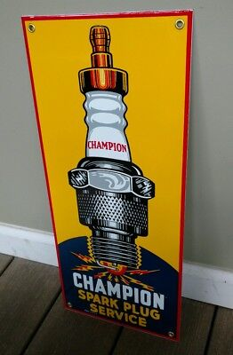 Champion Spark Plug porcelain sign ... 18 inches tall