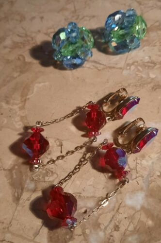 Lot Of Vintage Designer Clip On Earrings  - $35.00