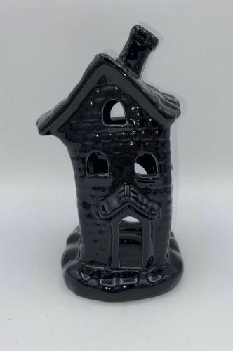Halloween Black Haunted Spooky House Tea Light Candle Holder