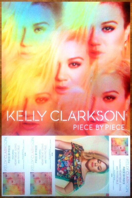 KELLY CLARKSON Piece By Piece Ltd Ed DIscontinued RARE Poster +FREE Pop Poster!