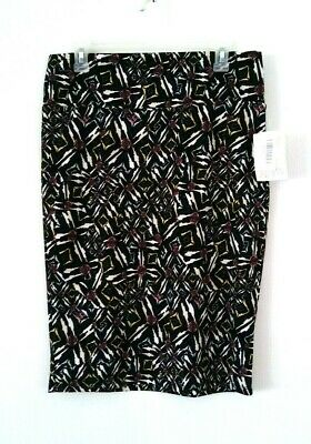 NEW WOMEN'S LULAROE CASSIE MULTI-COLOR PRINT STRETCHY PENCIL SKIRT SIZE L ()