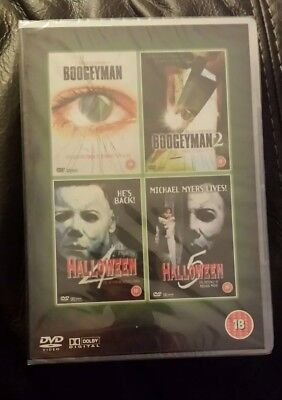 Boogeyman 1 & 2 + Halloween 4 & 5 DVD Set RARE Horror Michael Myers 4 Films new (Halloween 4 Michael Myers Film)