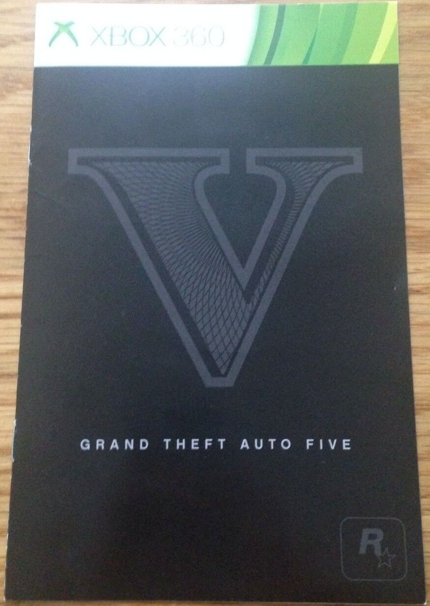 Galeria GTA V GRAND THEFT AUTO 5 MANUAL ONLY XBOX 360 UK Seller FAST DELIVERY