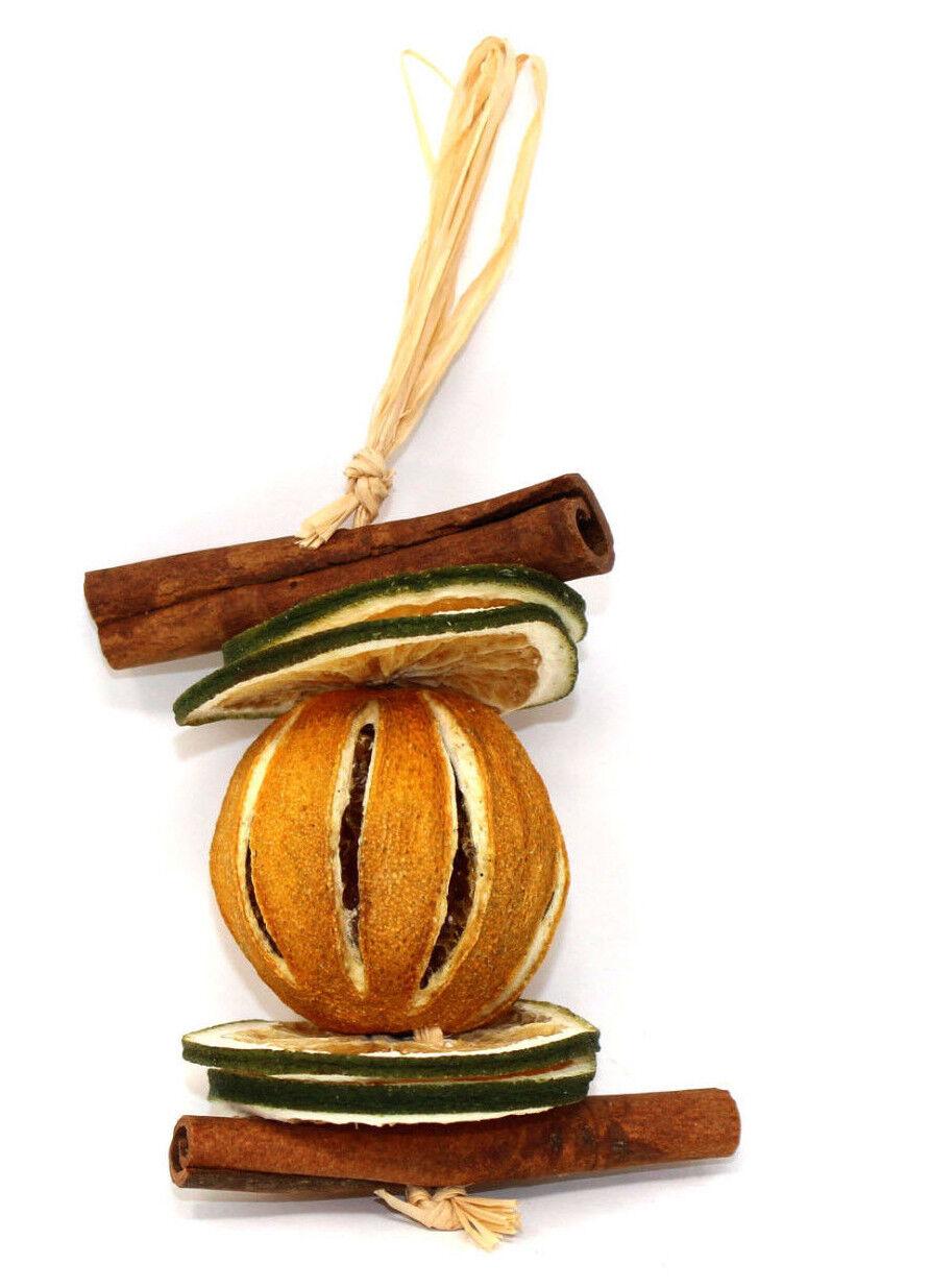 1 x 12cm Whole /& Sliced Dried Fruit Festive Hanger Orange