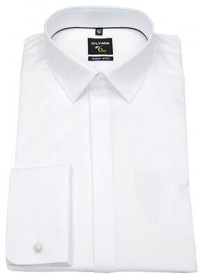OLYMP Herren Smokinghemd No. Six Super Slim Umschlagmanschette weiß 0491 65 00
