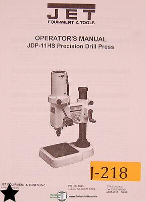 Jet Jdp-11hs Precision Drill Press Operators Manual