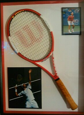 WILSON (K) SIX.ONE TOUR ROGER FEDERER SIGNED TENNIS RACQUET 4 5/8 authentic