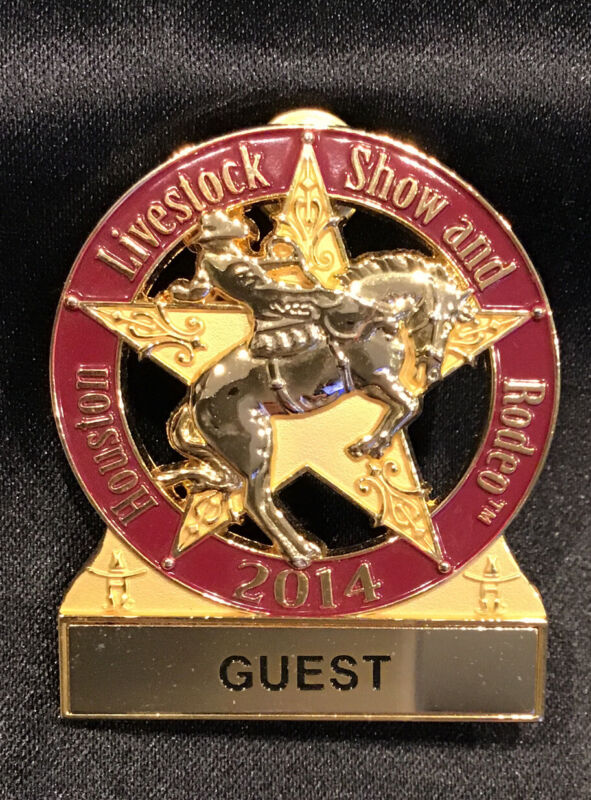 Houston Livestock Show and Rodeo GUEST PIN / BADGE  2014