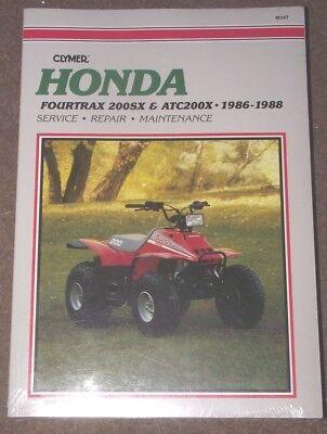 HONDA FOURTRAX 200SX & ATC200X MANUAL 1986 - 1988 (NEW AND SEALED)