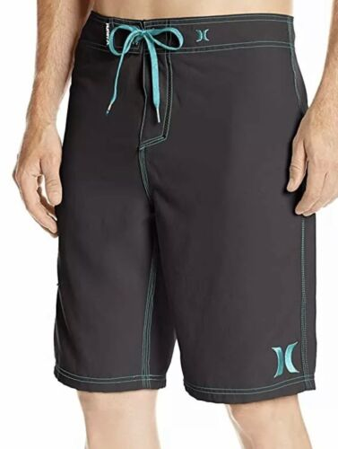Hurley Men's One and Only 22 Inch Boardshort, Black/Cyan, 36