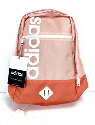 Adidas Court Lite II School College Backpack Peach Pink White New With Tags