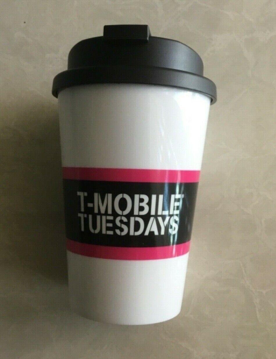 NEW T-Mobile Travel Mug Cup w/ Lid Snap Seal - BPA Free - Mi