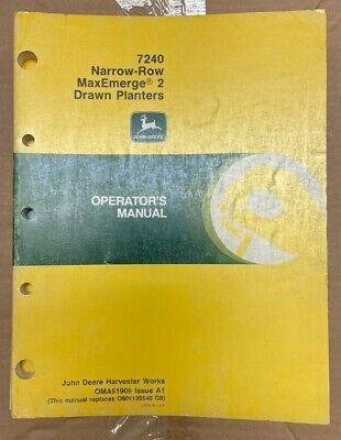 John Deere 7240 Narrow-row Maxemerge 2 Drawn Planter Op. Manual Oma51909 F-6
