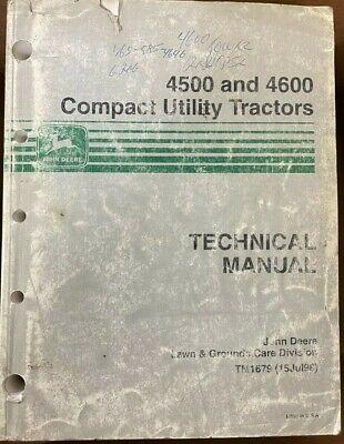 John Deere 45004600 Compact Utility Tractors Tech Manual Tm1679 I-1